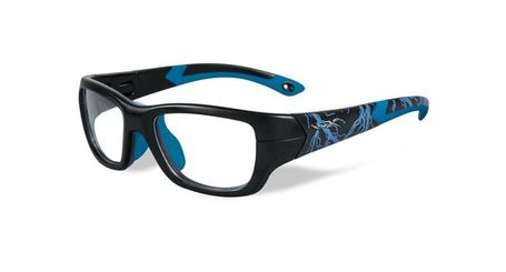 Wiley X Youth Force WX Flash YFFLA04  Kids Sports Glasses Matte Black/Electric Blue