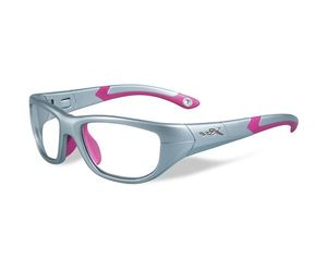 Wiley X Youth Force WX Victory YFVIC01 Kids Sports Glasses Silver/Magenta