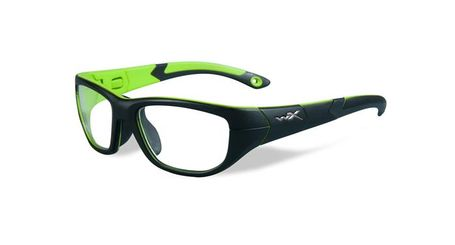 Wiley X Youth Force WX Victory YFVIC02 Kids Sports Glasses Matte Black/Lime Green