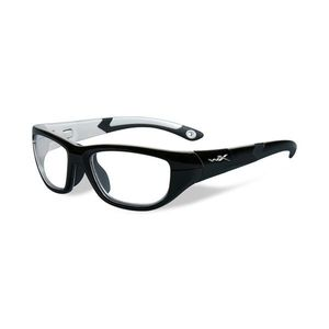 Wiley X Youth Force WX Victory YFVIC03 Kids Sports Glasses Gloss Black/Aluminum Pearl