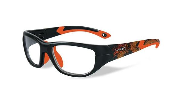 Wiley X Youth Force WX Victory YFVIC04 Kids Sports Glasses Matte Black/Sonic Orange