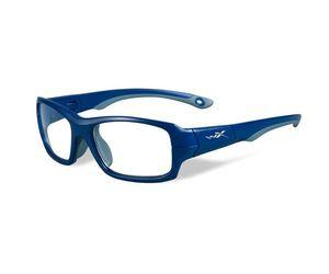 20fd69858a1 Wiley X Youth Force WX Fierce YFFIE01 Kids Sports Glasses Matte Blue Indigo  Grey
