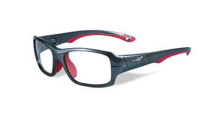 b13b00f807fb Wiley X Youth Force WX Fierce YFFIE02 Kids Sports Glasses Dark Silver/Red
