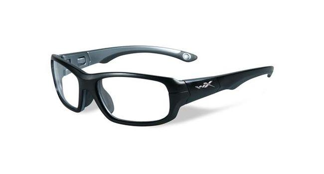 Wiley X Youth Force WX Gamer YFGAM01 Kids Sports Glasses Matte Black/Dark Silver