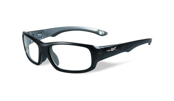 Wiley X Youth Force WX Gamer YFGAM01 Kids Sports Glasses Matte Black/Dark Silver
