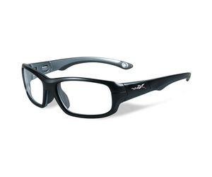 052fb218321 Wiley X Youth Force WX Gamer YFGAM01 Kids Sports Glasses Matte Black Dark  Silver