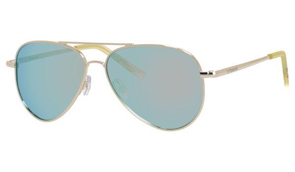 Polaroid Kids PLD-8015/N Sunglasses Polarized Gold/Gray Silver Mirror 0J5G-JB