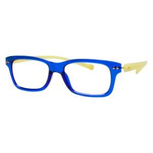 iGreen V2.7-C04 Kids Eyeglasses Shiny Royal Blue/Shiny Lemon