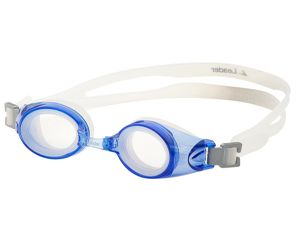 Leader xRx Eyeglasses Custom Rx-able Kids Swim Goggle Junior w/Rx Blue