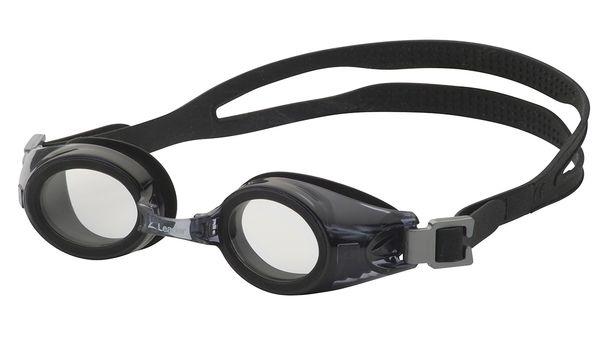 Leader xRx Eyeglasses Custom Rx-able Kids Swim Goggle Junior w/Rx Black