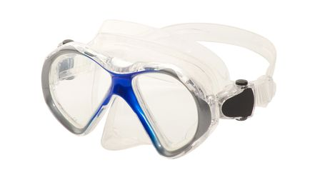 Leader Eyeglasses Ready to Wear Spherical Rx Dive Mask Junior Blue