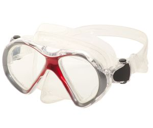Leader Eyeglasses Ready to Wear Spherical Rx Dive Mask Junior Red