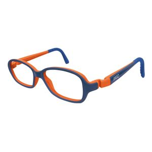 Nano NAO50131 Re-Play Kids Eyeglasses Matt Blue Marine/Orange Eye Size 44-15