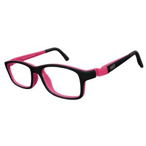 Nano NAO57844 Crew Kids Eyeglasses Black/Fuchsia Eye Size 44-16