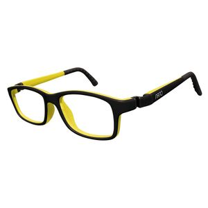 Nano NAO57944 Crew Kids Eyeglasses Matt Black/Yellow Eye Size 44-16