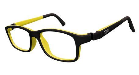 Nano NAO57946 Crew Kids Eyeglasses Matt Black/Amarillo Eye Size 46-17 (8-12 Years)