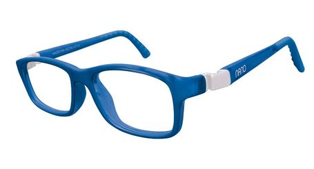Nano NAO57746 Crew Kids Eyeglasses Blue Marin/White Eye Size 46-17 (8-12 Years)