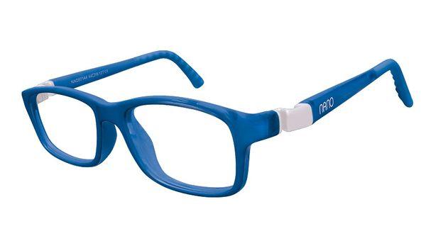 Nano NAO57746 Crew Kids Eyeglasses Blue Marin/White Eye Size 46-17 (8-10 Years)