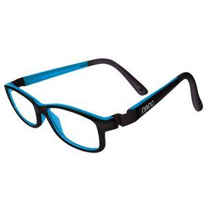 Nano NAO50211Game-Over Kids Eyeglasses Matt Black/Blue Eye Size 46-17