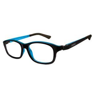 Nano NAO521148 Arcade Kids Eyeglasses Black/Blue Eye Size 48-17