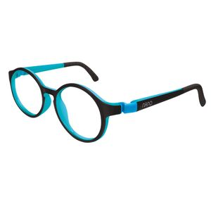 Nano NAO600544 Breakout Kids Eyeglasses Black/Sky Blue Eye Size 44-16