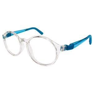 Nano NAO600746 Breakout Kids Eyeglasses Crystal/Blue Eye Size 46-17