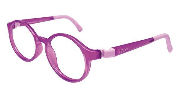 Nano NAO600146 Breakout Kids Eyeglasses Purple/Violet Eye Size 46-17 (8-10 Years)