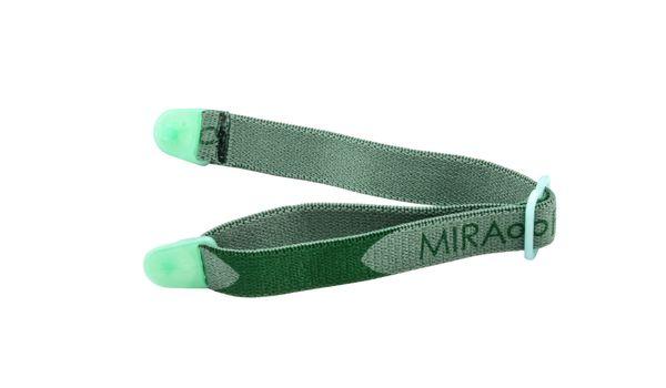 Miraflex Elastic Band  Eyeglasses EBVC Clear Green/Dk Green
