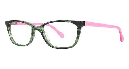 Lily Pulitzer Girls Livie Eyeglasses Green Tortoise