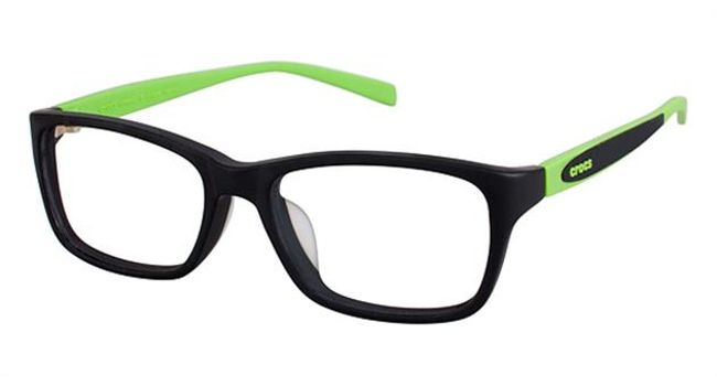 Crocs JR031 Kids Eyeglasses Black/Green 20GN