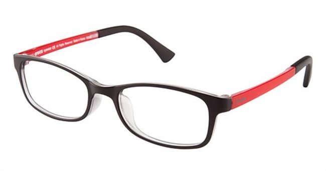 Crocs JR036 Kids Eyeglasses Black/Red 20RD