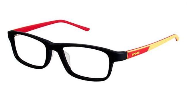 Crocs JR049 Kids Eyeglasses Black/Red 20RD