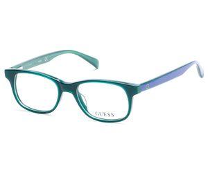 Guess Kids GU9163 Eyeglasses Shiny Dk Green 096