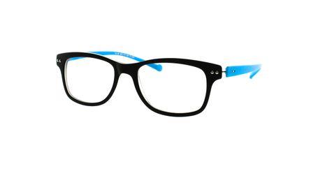 iGreen V4.46-C02M Kids Eyeglasses Matt Black/Matt Pastel Sky Blue