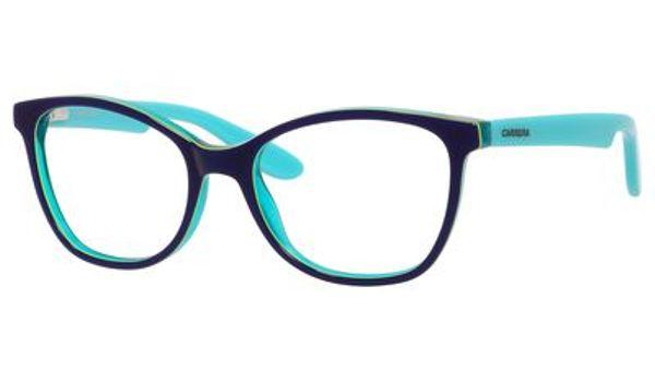 Carrera Kids Eyeglasses Carrerino 50 0HMJ Blue/Lime Green