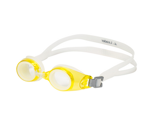 Leader xRx Eyeglasses Custom Rx-able Kids Swim Goggle Junior w/Rx Yellow