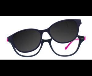 4089bb21b30 iGreen Plus-11 C04M Kids Eyeglasses Matt Dk Blue Fuchsia Clip Polarized Dk  Blue