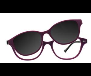 0db16e65873 iGreen Plus-11 C013M Kids Eyeglasses Matt Violet Matt Black clip Polarized  Violet